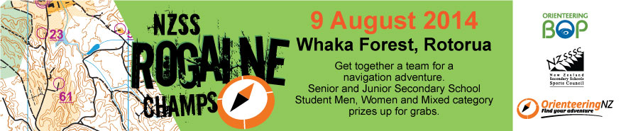 2014 NZSS Rogaine Championships - 9th August 2014, Whaka Forest, Rotorua