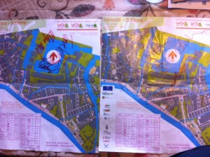 Fangirl-ing: WOC maps with signatures of podium guys/gals