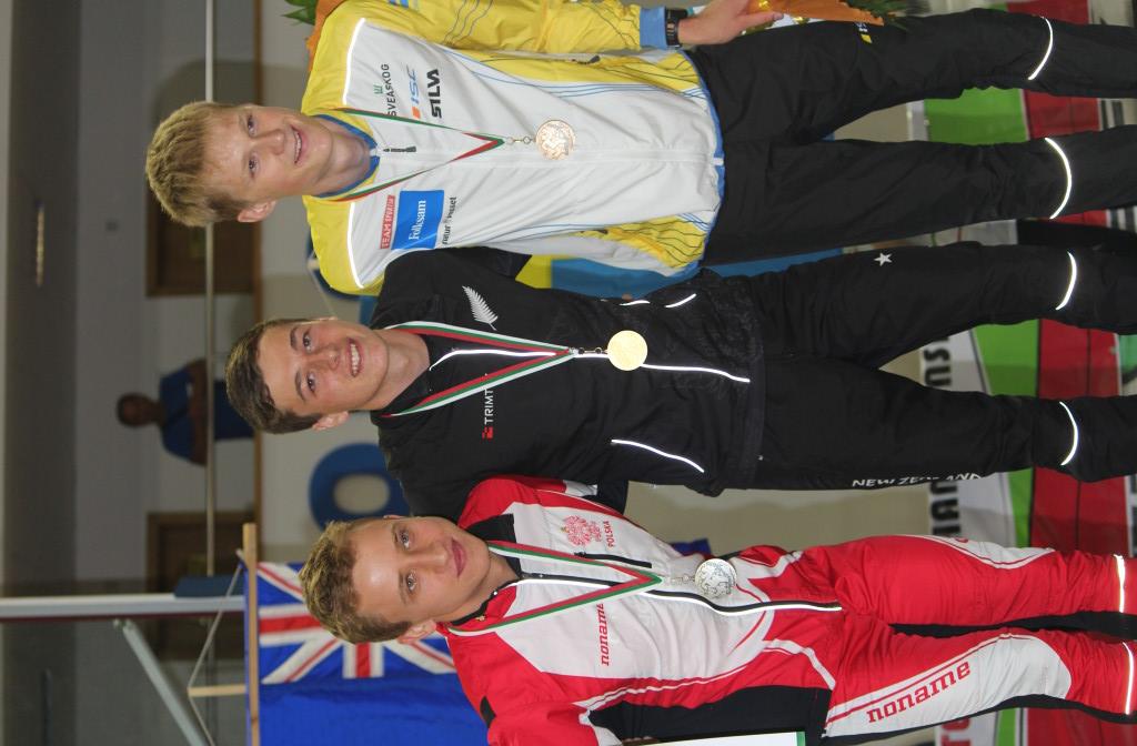 Sprint Medals  - Piotr Parfianowicz Poland, Tim Robertson New Zealand, Anton Johanson Sweden