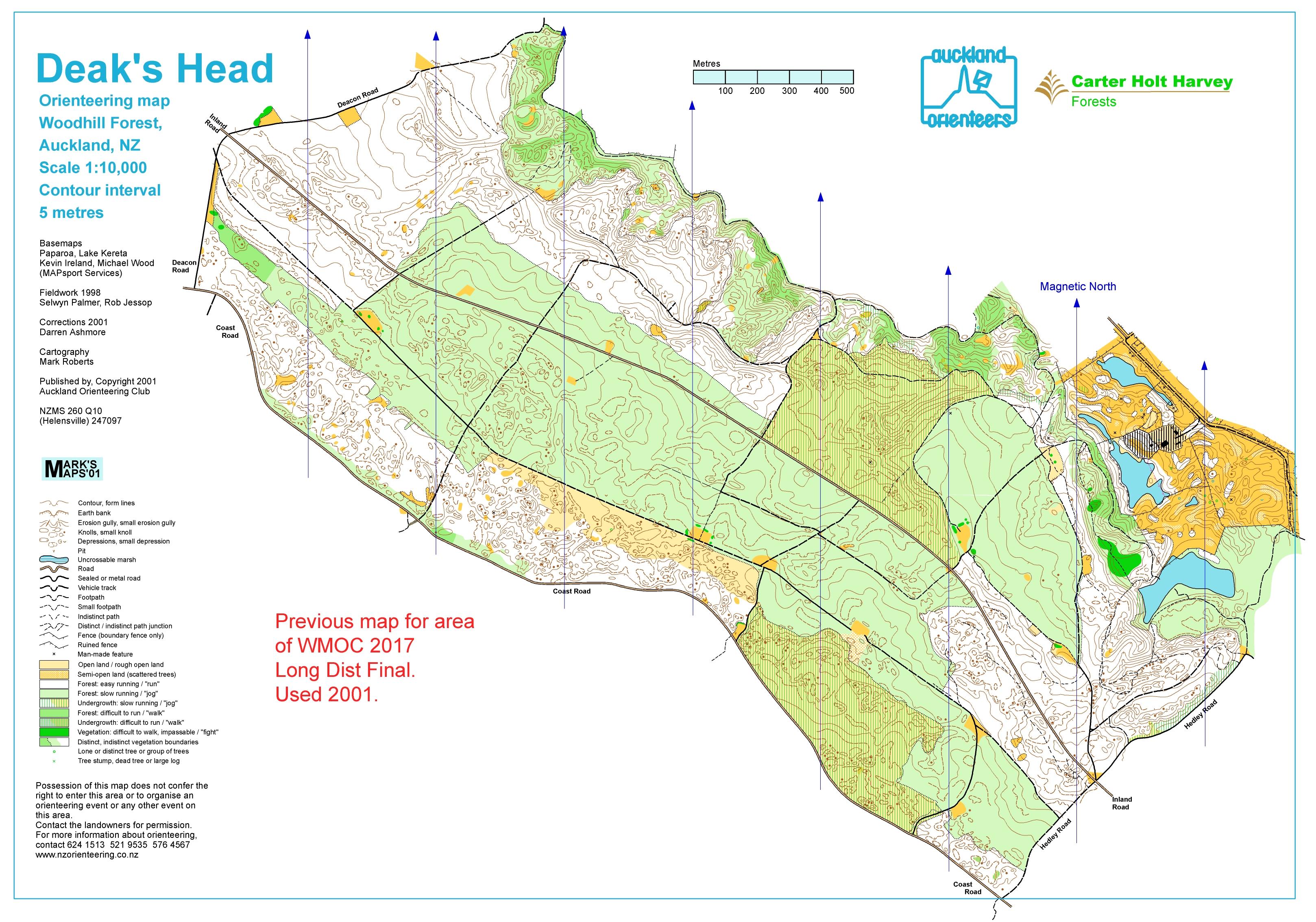 World masters games 2017 world masters orienteering wmoc2017 old maps long distance final woodhill deaks head 2001 biocorpaavc