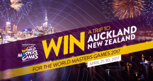 WMG2017 Win a Trip to Auckland New Zealand for World Masters Games 2017