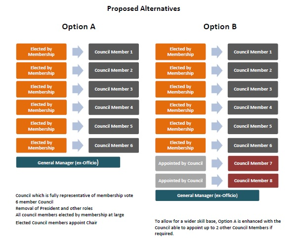 Proposed Council structure 1