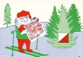 Santa with O Map