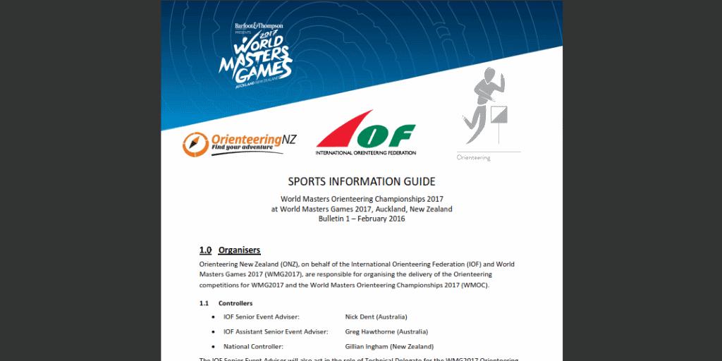 WMG2017 Orienteering Sports Information Guide