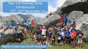 2016 Year 5-8 Orienteering Training Camp