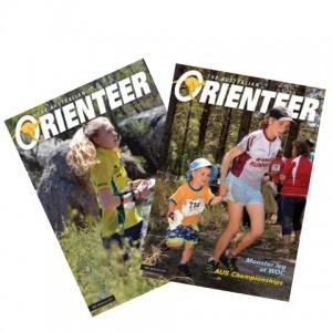 Australian Orienteer Magazine covers