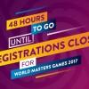 WMG2017 Reminder – 48 Hours Until Registrations Close – 3rd March 2017
