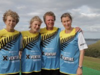Christine Browne & Family in the XVenture Family Challenge TV series