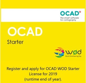 OCAD Starter - WOD Register and apply for OCAD WOD Starter License for 2019 (run time end of year)