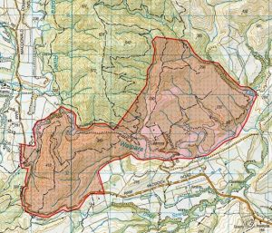 Oceania 2021 Embargo Map area of Laidmore