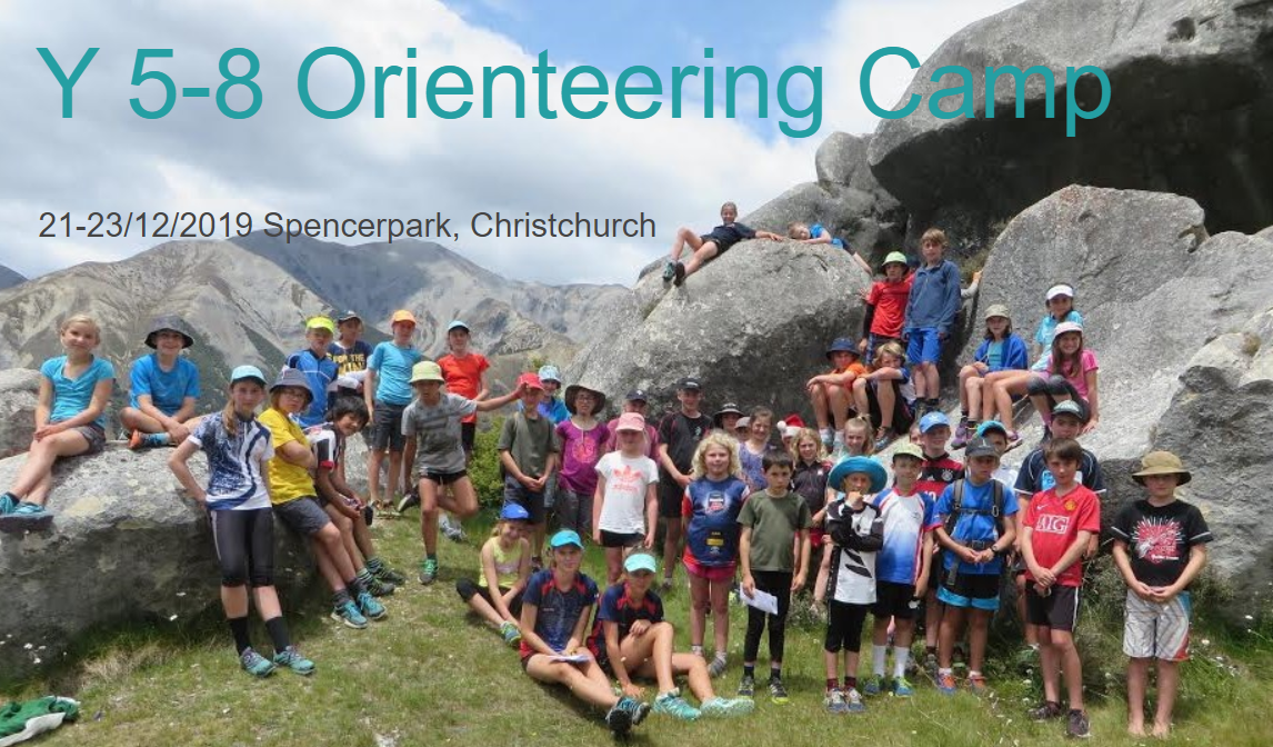 Year 5 to 8 Orienteering Camp 21-23 Dec 2019 Spencer Park Christchurch