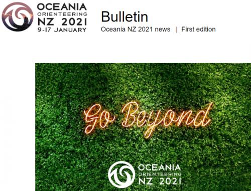 Oceania 2021 Orienteering - Bulletin 1