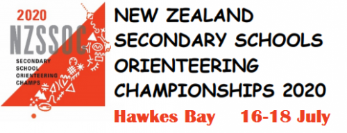 New Zealand Secondary Schools Orienteering Championships 2020 Hawkes Bay 16-18 July