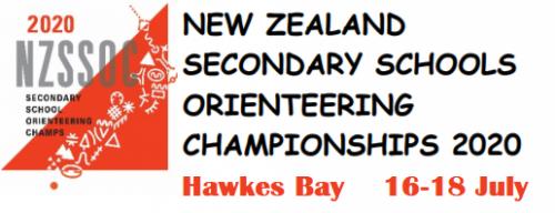 New Zealand Secondary Schools Orienteering Championships 2020 Hawkes Bay 16-18 July