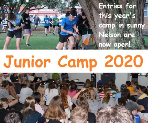 Junior Camp 2020 - Entries for this year's camp in sunny Nelson are now open!