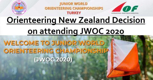Orienteering New Zealand Decision on attending Junior World Orienteering Champs JWOC 2020 - Turkey