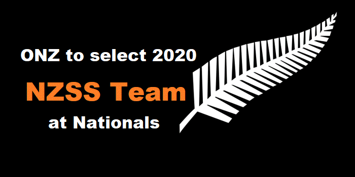ONZ to select 2020 NZSS Team at Nationals