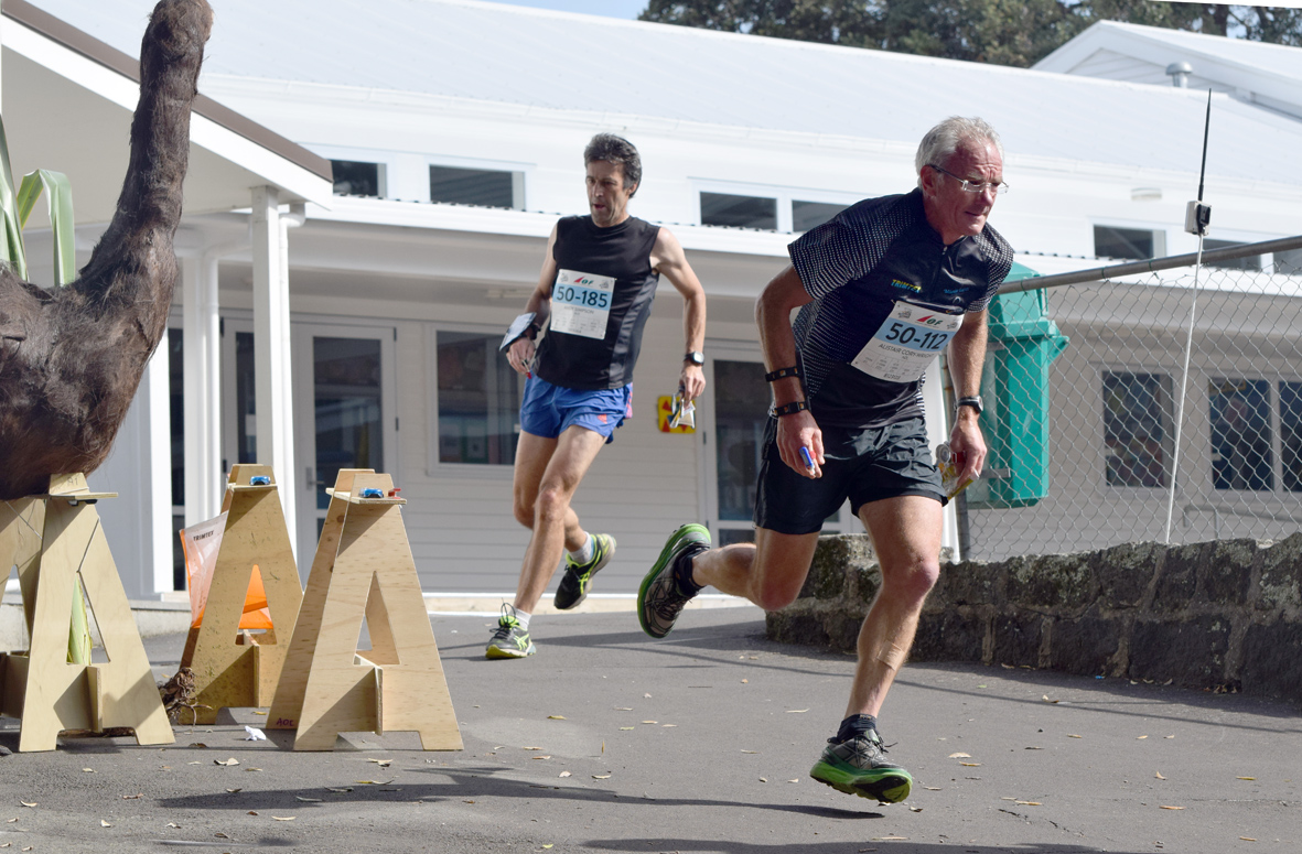 Al Cory-Wright competing in the orienteering Sprint champs at the MastersGames in Auckland 2017
