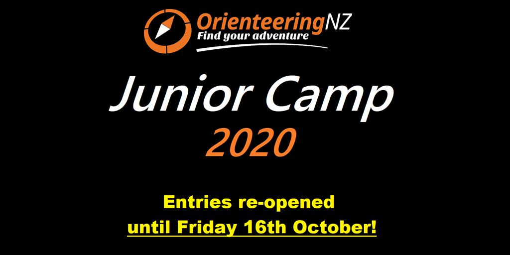 Orienteering NZ Junior Camp 2020 Entries reopened until Friday 16th October 2020