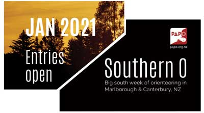 Jan 2021 Southern O - Marlborough & Canterbury NZ, Big south week of orienteering. Entries Open