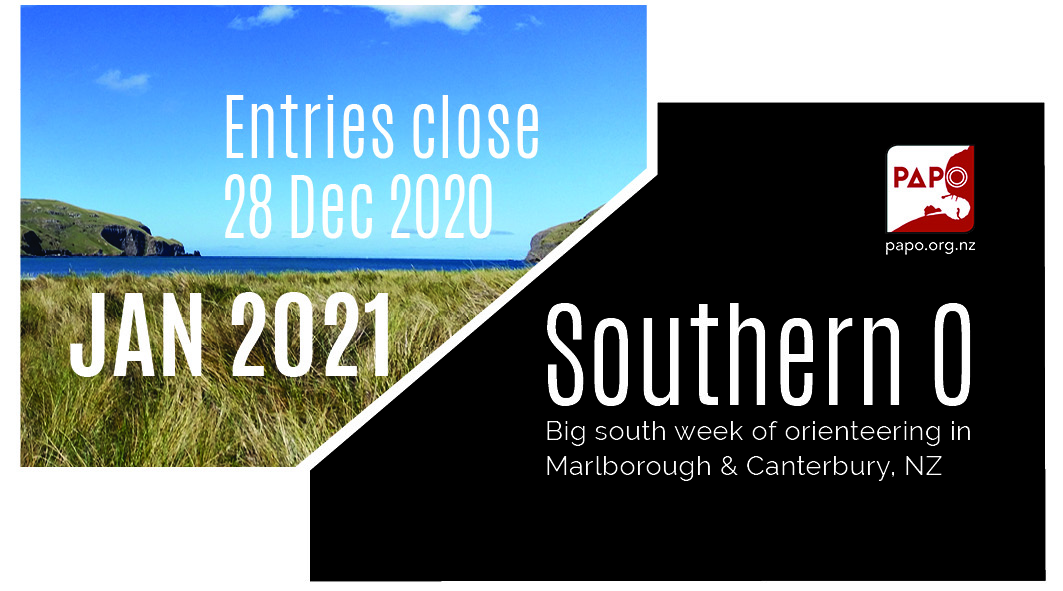 Entries closing 28 Dec Southern O week