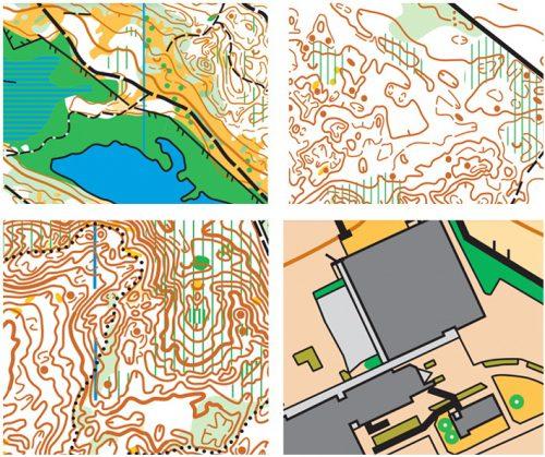Four NZOC 2021 maps
