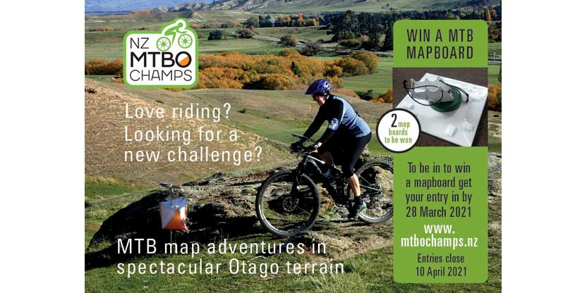 NZ MTBO Champs 2021 Enter to Win a Map Board