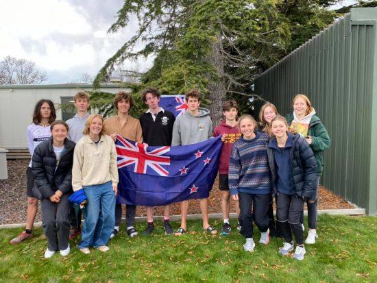 2021 NZ JWOC Team in NZ