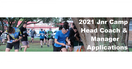 2021 Jnr Camp Head Coach & Manager Applications